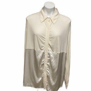 Marina Rinaldi Silk Cream Tunic Blouse